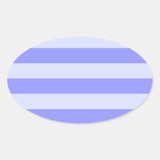 Nautical Blue Stripes Oval Sticker