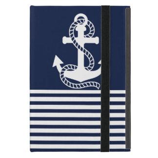 Nautical Blue/White Anchor Cover For iPad Mini