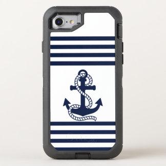 Nautical Blue White Anchor OtterBox iPhone 7 Case