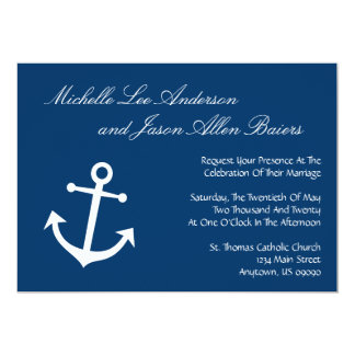 Anchor Wedding Invitations Announcements Zazzlecouk