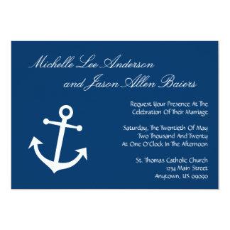 Nautical Boat Anchor Wedding Invitations (Navy)