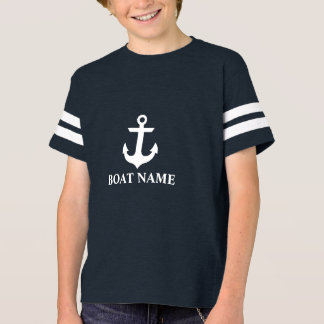 Nautical Boat Name Boy's FB T-Shirt