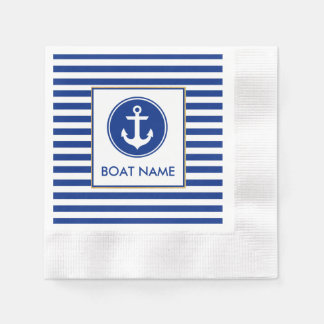 Nautical Boat Name Party Napkins Paper Napkin