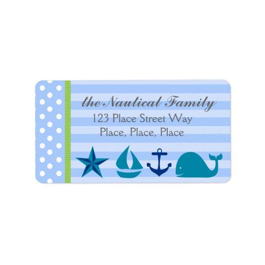 Nautical Boy Address Label