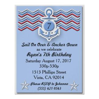 Nautical Boy's Birthday Invitation -