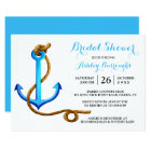 Nautical Bridal Shower Ship Anchor Blue Turquoise Card