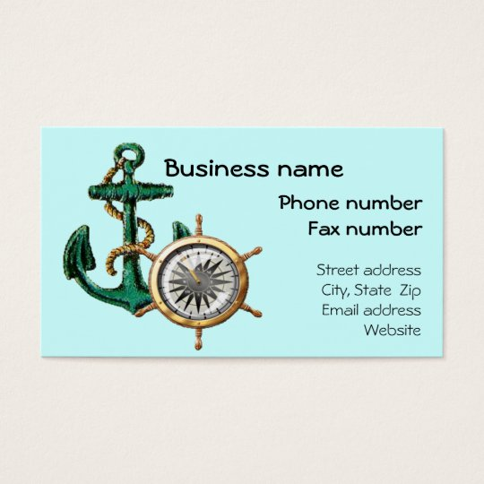 Nautical Business Card Template