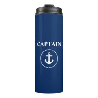 Nautical Captain Anchor Rope Navy Blue Thermal Tumbler