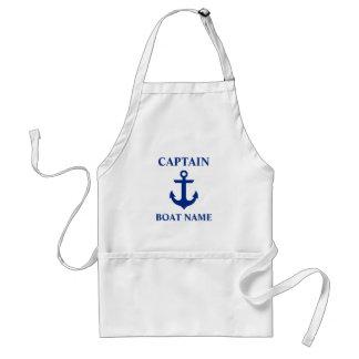 Nautical Captain Boat Name Anchor Standard Apron
