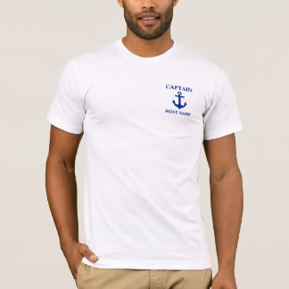 Nautical Captain Boat Name Anchor T-Shirt