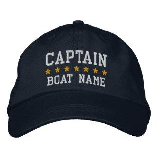 Nautical Captain Your Boat Name Cap Bl