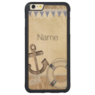 Nautical Carved Maple iPhone 6 Plus Bumper Case