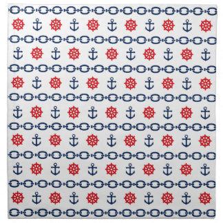 Nautical Chain in Red, White, & Blue Napkin