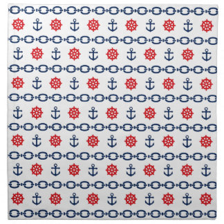 Nautical Chain in Red, White, & Blue Napkins