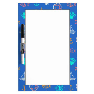 Nautical Chalk Drawing Pattern 1 Dry Erase Board