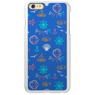 Nautical Chalk Drawing Pattern 1 iPhone 6 Plus Case