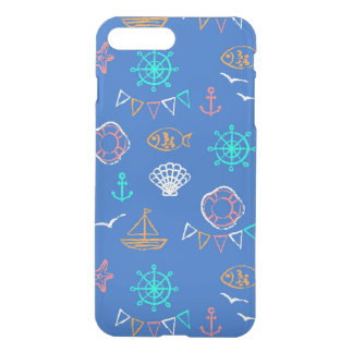 Nautical Chalk Drawing Pattern 1 iPhone 8 Plus/7 Plus Case