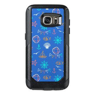 Nautical Chalk Drawing Pattern 1 OtterBox Samsung Galaxy S7 Case