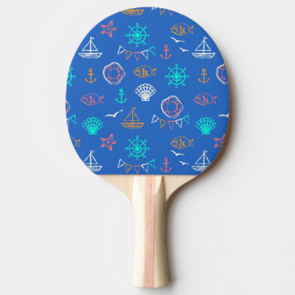 Nautical Chalk Drawing Pattern 1 Ping Pong Paddle