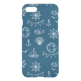 Nautical Chalk Drawing Pattern 2 iPhone 7 Case