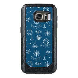 Nautical Chalk Drawing Pattern 2 OtterBox Samsung Galaxy S7 Case