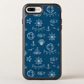 Nautical Chalk Drawing Pattern 2 OtterBox Symmetry iPhone 8 Plus/7 Plus Case