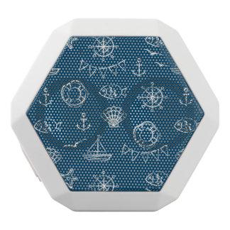 Nautical Chalk Drawing Pattern 2 White Bluetooth Speaker
