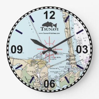 Nautical Chart Wall Clock - South Padre Island