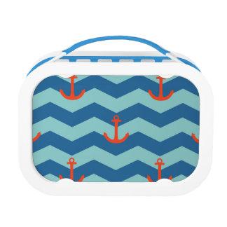 Nautical Chevron Pattern Lunch Box