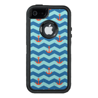 Nautical Chevron Pattern OtterBox Defender iPhone Case