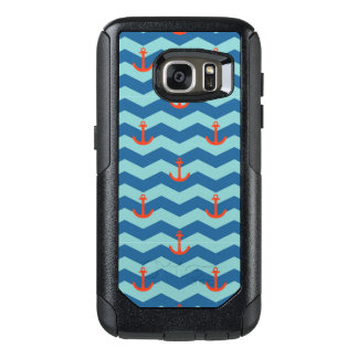 Nautical Chevron Pattern OtterBox Samsung Galaxy S7 Case
