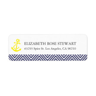 Nautical Chevron Return Address Labels