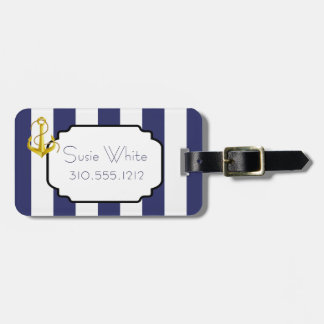 Nautical Chic Luggage Tag