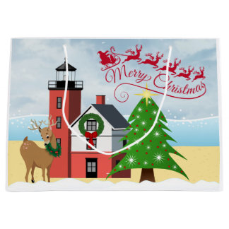 Nautical Christmas Bag with Lighthouse