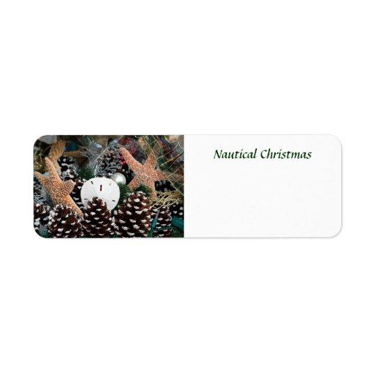 Nautical Christmas Decorations Return Address Label