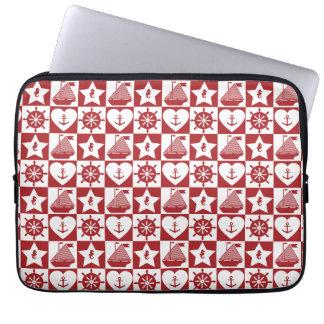 Nautical Christmas Laptop Sleeve