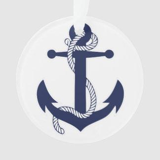 Nautical Christmas Ornament Anchor Acrylic White