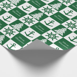 Nautical Christmas Wrapping Paper