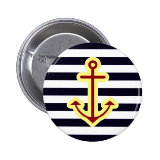 Nautical Classic Anchor Pinback Button
