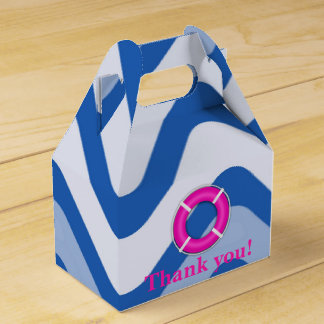 Nautical coastal beach girly pink favor boxes