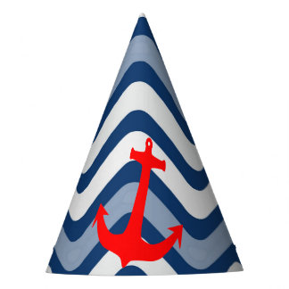 Nautical coastal beach ocean anchor paper hat
