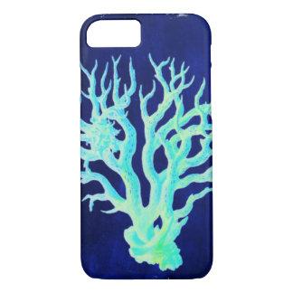 Nautical coastal chic beachy blue Coral Reef iPhone 8/7 Case