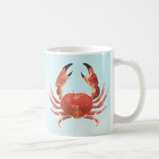 Nautical Coastal Seafood Crab Coffee Mug