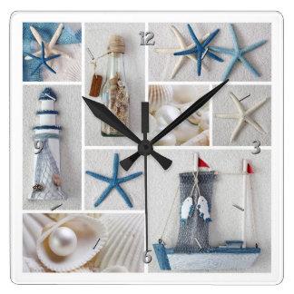 Nautical Collage Wall Clocks