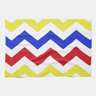 Nautical Colored Zigzag Pattern Tea Towel