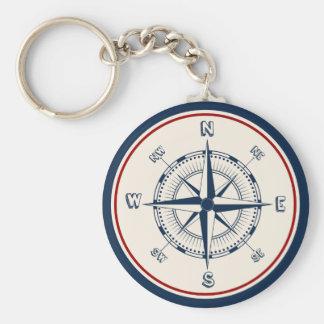 Nautical Compass Key Ring