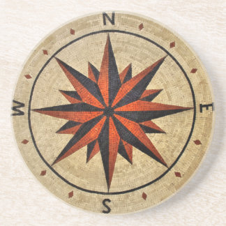 Nautical Compass Mosaic Decor Coaster