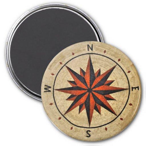 Nautical Compass Mosaic Decor Magnets