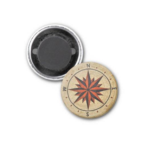 Nautical Compass Mosaic Decor Fridge Magnet