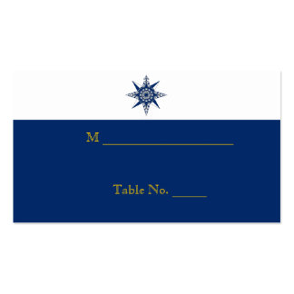 Nautical Compass Navy Yellow Wedding Place Cards Business Card Template